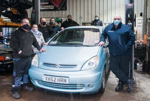 Generous garage helps carer Tony get back on the road